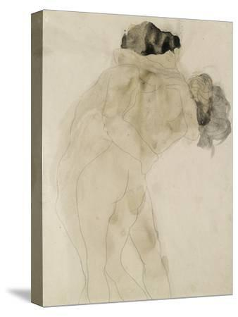 Two Embracing Figures-Auguste Rodin-Stretched Canvas Print