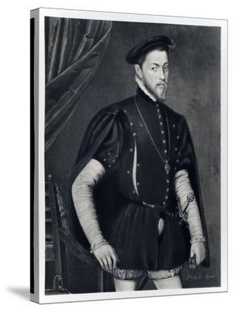 Philip II of Spain-Anthonis van Dashorst Mor-Stretched Canvas Print