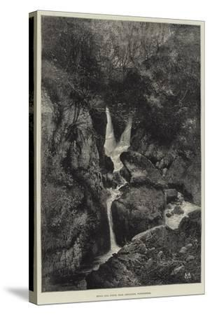 Stock Gill Force, Near Ambleside, Windermere-Charles Auguste Loye-Stretched Canvas Print