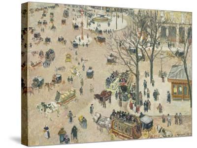 La Place Du Théâtre Français, 1898-Camille Pissarro-Stretched Canvas Print