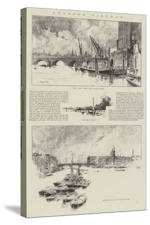 London's Tideway-Charles Auguste Loye-Stretched Canvas Print