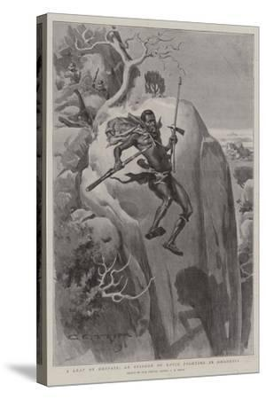 A Leap of Despair, an Episode of Kopje Fighting in Rhodesia-Charles Edwin Fripp-Stretched Canvas Print