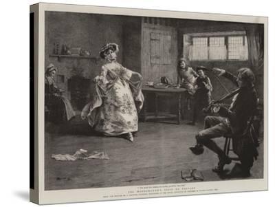 Peg Woffington's Visit to Triplet-Charles MacIvor Grierson-Stretched Canvas Print