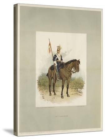 17th Lancers, a Trooper in Review Order-Charles Green-Stretched Canvas Print