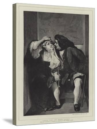 Uncle Toby and Widow Wadman-Charles Robert Leslie-Stretched Canvas Print