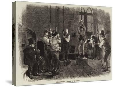 Bell-Ringing-Charles Keene-Stretched Canvas Print