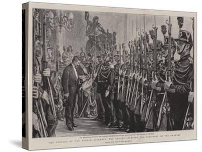 The Opening of the French Assembly, the Guards Saluting the President of the Chamber-Charles Paul Renouard-Stretched Canvas Print
