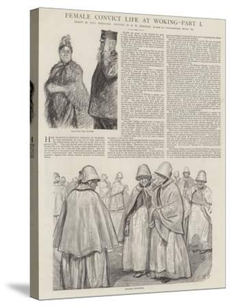 Female Convict Life at Woking-Charles Paul Renouard-Stretched Canvas Print