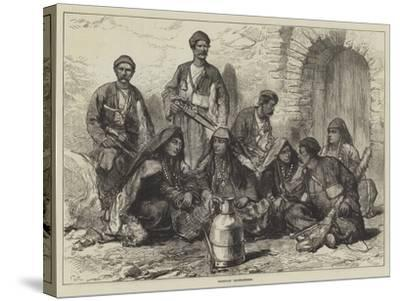 Georgian Mountaineers-Charles Robinson-Stretched Canvas Print