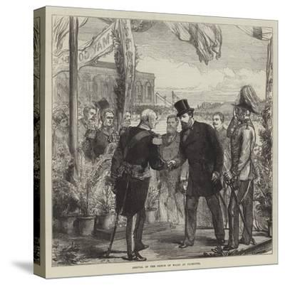 Arrival of the Prince of Wales at Plymouth-Charles Robinson-Stretched Canvas Print
