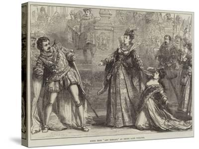 Scene from Amy Robsart, at Drury Lane Theatre-David Henry Friston-Stretched Canvas Print