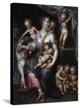 Allegory of Fertility and the Senses, 1593-Dirk De Quade Van Ravesteyn-Stretched Canvas Print