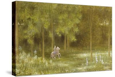 Knight in a Landscape-Edward Clifford-Stretched Canvas Print