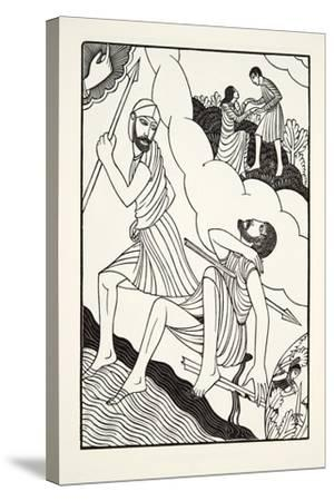 The Death of Troilus, 1927-Eric Gill-Stretched Canvas Print