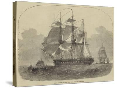 HMS Nankin, 50 Guns, Honourable Keith Stewart, Commander-Edwin Weedon-Stretched Canvas Print