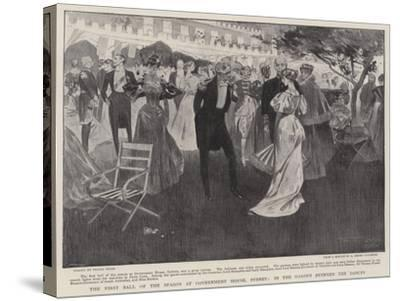 The First Ball of the Season at Government House, Sydney, in the Garden Between the Dances-Frank Craig-Stretched Canvas Print