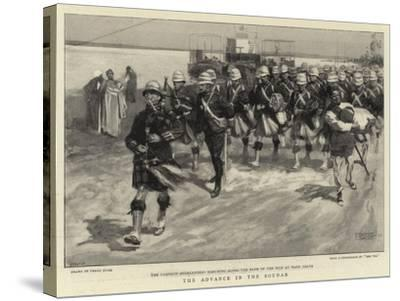 The Advance in the Soudan-Frank Craig-Stretched Canvas Print