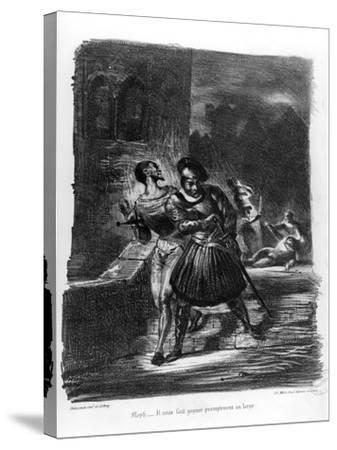 Mephistopheles and Faust Escaping after Valentine's Death-Eugene Delacroix-Stretched Canvas Print