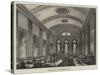 Great Hall of the Temple Club-Frank Watkins-Stretched Canvas Print