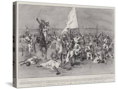 The Battle of Omdurman, 2 September 1898, the First Charge of the Dervishes-Frank Dadd-Stretched Canvas Print