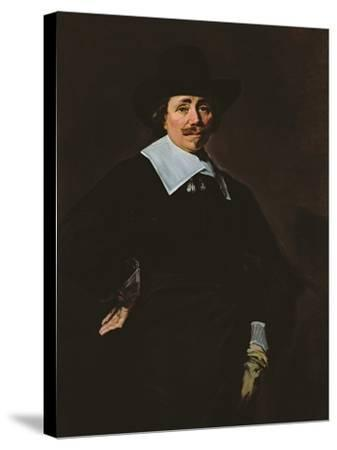 A Dutch Gentleman, C.1643-45-Frans Hals-Stretched Canvas Print