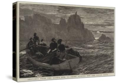 Sketches from the Land's End, Ii, Seine Fishing Off the Logan Rock-Frank Dadd-Stretched Canvas Print