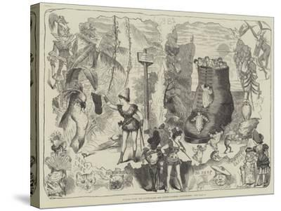 Scenes from the Drury-Lane and Covent-Garden Pantomimes-George Cruikshank-Stretched Canvas Print