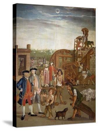 Courtyard with Machines for Fulling Fabrics, 1764-Gabriel Maria Rossetti-Stretched Canvas Print