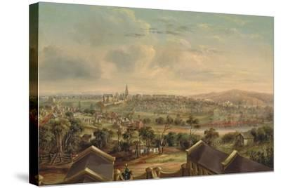 Sydney from Woolloomooloo, 1849-George Edward Peacock-Stretched Canvas Print