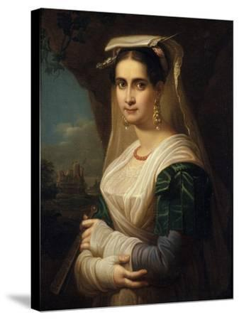Countrywoman from Albano, 1818-Friedrich Ludwig Theodor Doell-Stretched Canvas Print