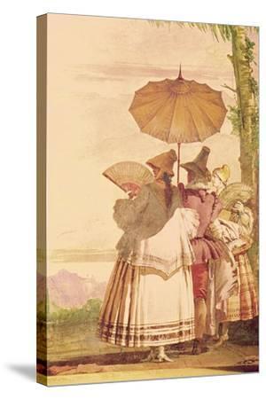 The Summer Promenade, C.1757-Giandomenico Tiepolo-Stretched Canvas Print