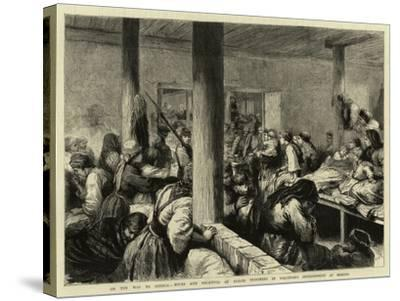 On the Way to Siberia, Wives and Relatives of Exiled Prisoners in Voluntary Imprisonment at Moscow-Godefroy Durand-Stretched Canvas Print