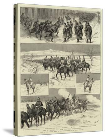 The Rumours of War on the Continent-Godefroy Durand-Stretched Canvas Print