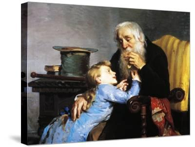 Memory of Grandfather-Giovanni Pezzotta-Stretched Canvas Print
