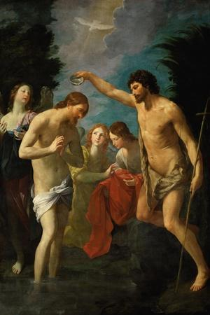 The Baptism of Christ, 1623-Guido Reni-Stretched Canvas Print
