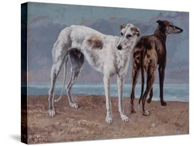 The Greyhounds of the Comte De Choiseul, 1866-Gustave Courbet-Stretched Canvas Print