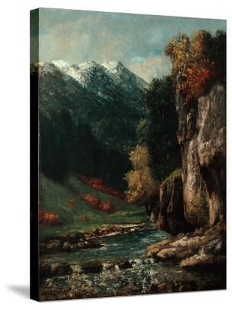 Landscape, C.1874-77-Gustave Courbet-Stretched Canvas Print