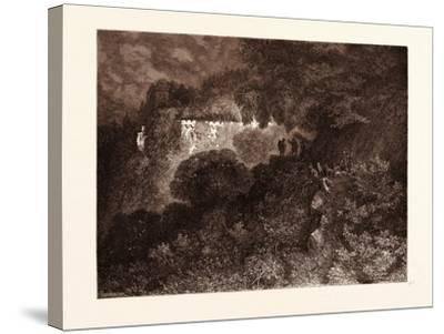 The Palace of Sleep-Gustave Dore-Stretched Canvas Print