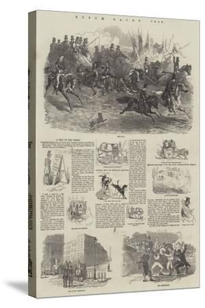 Epsom Races, 1849-Harrison William Weir-Stretched Canvas Print