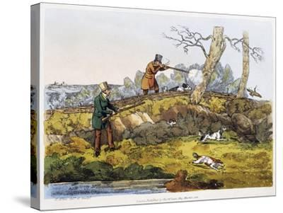 Woodcock Hunting, 1820-Henry Alken-Stretched Canvas Print