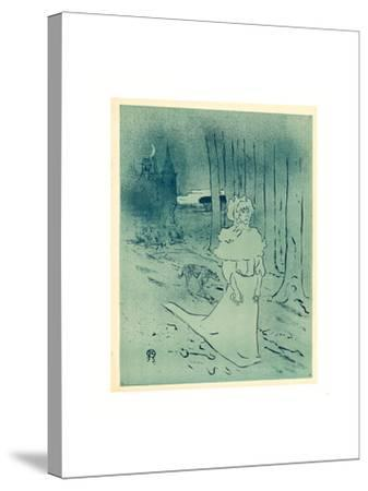 The Manor Lady or the Omen (La Chatelaine Ou Le Tocsin)-Henri de Toulouse-Lautrec-Stretched Canvas Print