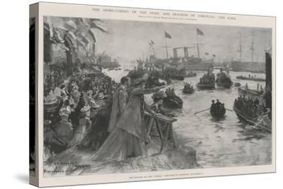 The Home-Coming of the Duke and Duchess of Cornwall and York-Henry Charles Seppings Wright-Stretched Canvas Print