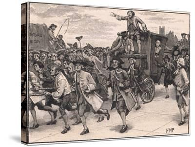 The Mob Releasing Mr Wilkes on His Way to Prison Ad 1768-Henry Marriott Paget-Stretched Canvas Print