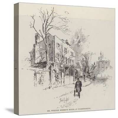 Mr William Morris's House at Hammersmith-Herbert Railton-Stretched Canvas Print