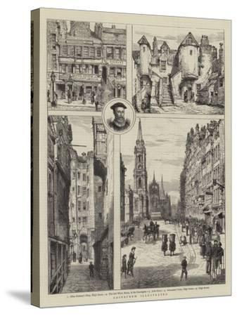 Edinburgh Illustrated-Henry William Brewer-Stretched Canvas Print