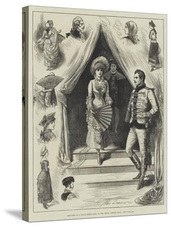 Sketches at a Fancy-Dress Ball at the Royal Albert Hall-Henry Stephen Ludlow-Stretched Canvas Print