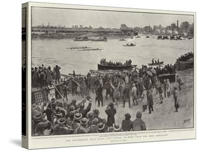 The University Boat Race, the Finish, as Seen from Ship, Mortlake-Henry Marriott Paget-Stretched Canvas Print