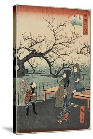 Plum Trees at Kameido, 1859-1862--Stretched Canvas Print