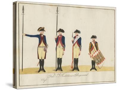 Field Artillery Regiment, C.1784-J. H. Carl-Stretched Canvas Print