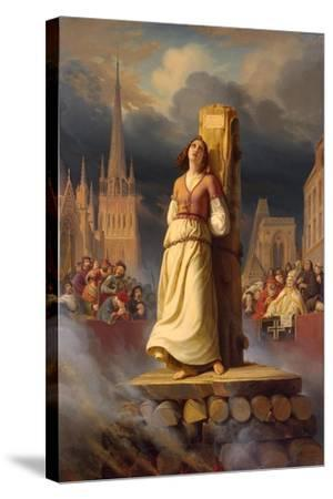 Joan of Arc's Death at the Stake, 1843-Hermann Anton Stilke-Stretched Canvas Print